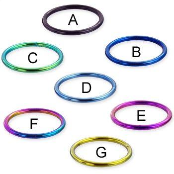 Titanium anodized segment ring, 16 ga-- the rainbow one :)