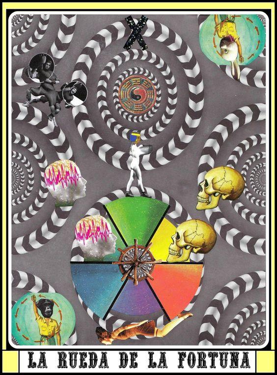 "Arcano X ""LA RUEDA DE LA FORTUNA""- Collage on paper  http://explosiva-fija.flavors.me/"