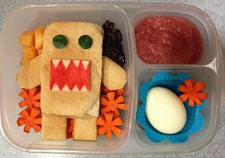 Robot Bento Lunch.  I'd have to make it minus the egg, Beau wouldn't touch that