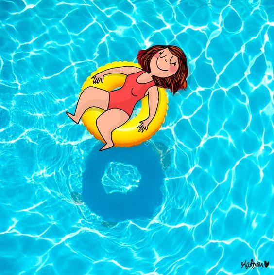 CDH:  Une petite sieste dans la piscine pour bien comme...