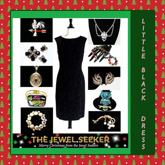 Give the gift of #vintage #jewelry!  When I am shopping to give someone a piece of jewelry, I imagine them in a little black dress!  #photochallenge #teamlove #vintagefallfashion #giftsforher