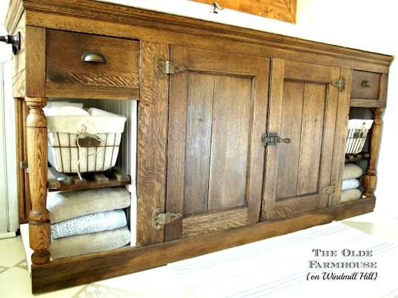 The Olde Farmhouse on Windmill Hill: Bathroom Update #4 - Vanity {Trash to Treasure Rescue}