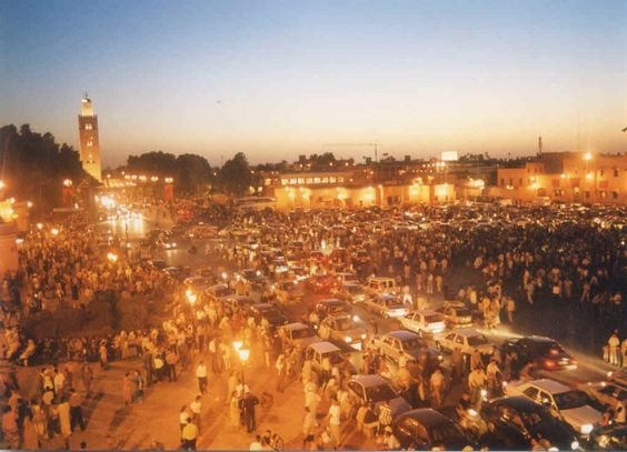 Marrakech, Morocco. Definitely want o see Morocco some day!