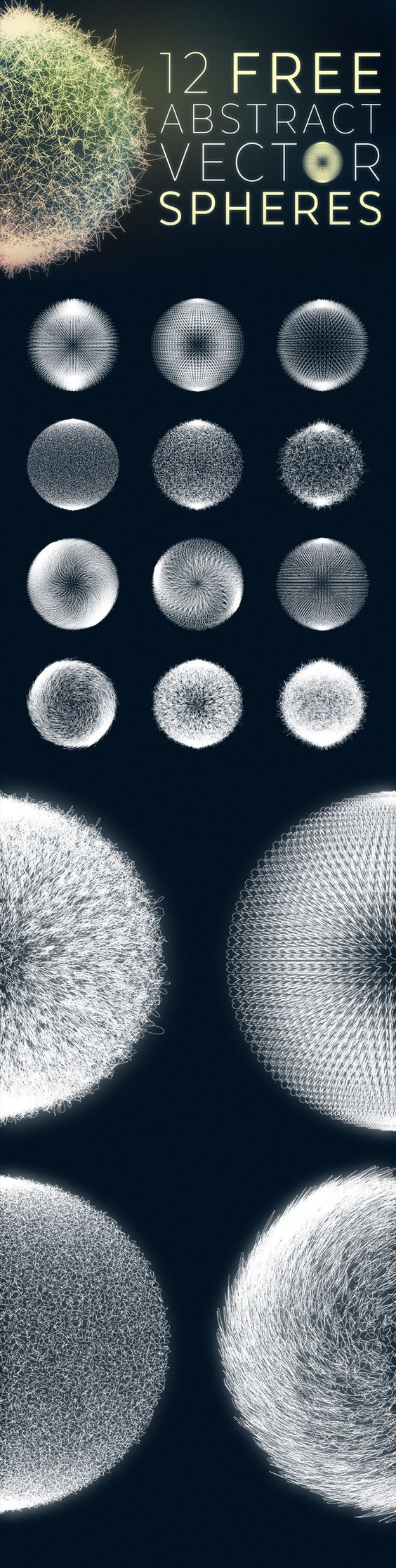 12 Free Abstract Sphere Graphics in Vector Format