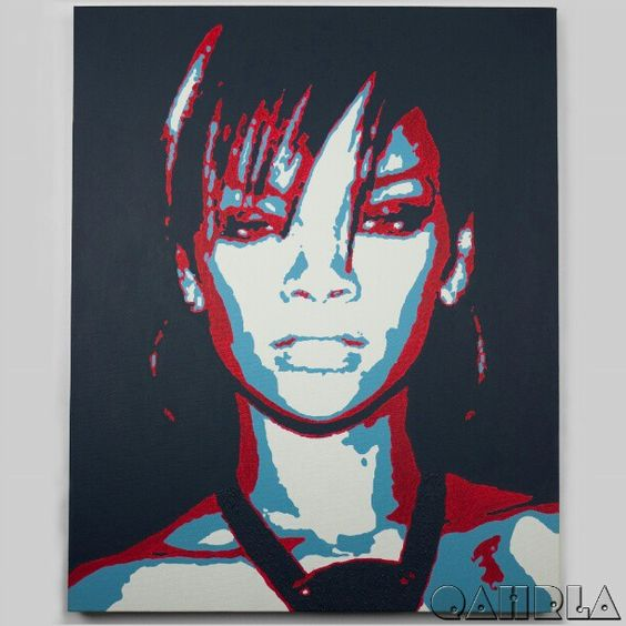 #Qahrla #artist #artwork #art #Rihanna #gallery # ...