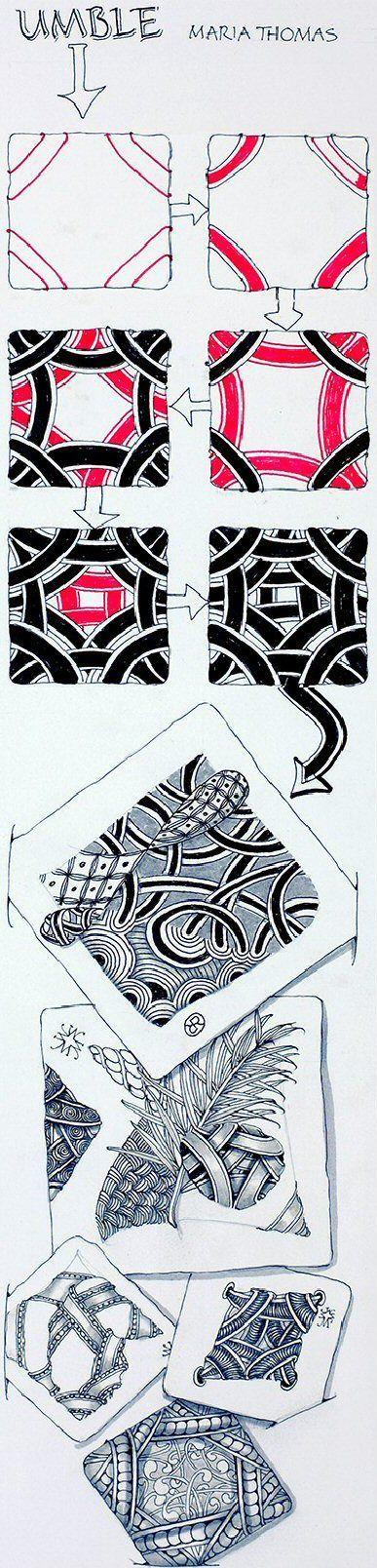 Umble zentangle tangle by founder maria thomas