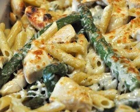 Chicken & Asparagus Penne Yum
