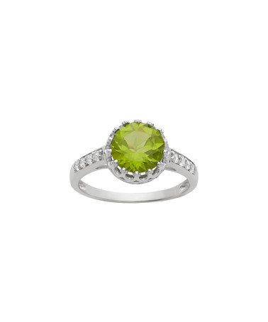 Another great find on #zulily! Peridot & White Sapphire Crown Ring #zulilyfinds