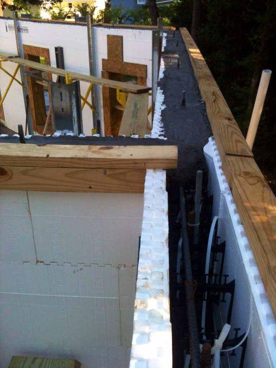Insulation on pinterest for Styrofoam concrete forms price