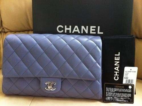 12C Chanel Lavender Purple Quilted Lambskin Timeless Classic Clutch Flap Bag NIB... Every girl needs some Chanel in her life!!!