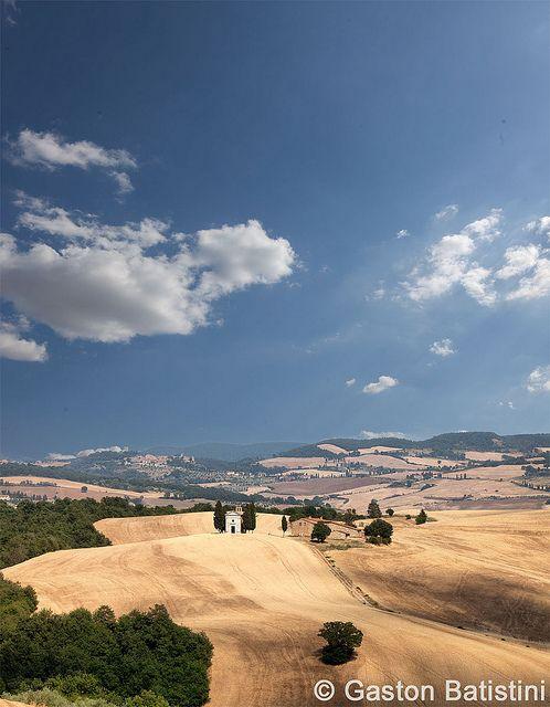La cappella di Vitaleta, Montepulciano, Val d'Orcia, Toscana