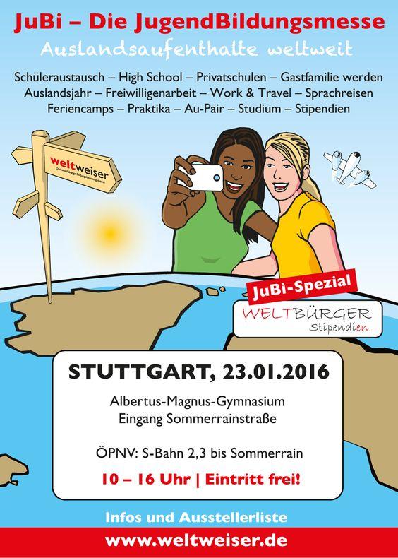 JugendBildungsmesse in #Stuttgart: 23. Januar 2016, Albertus-Magnus-Gymnasium