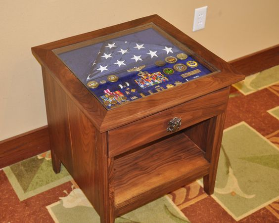 Army Mail Box Military Shadow Box Table Part Ii By