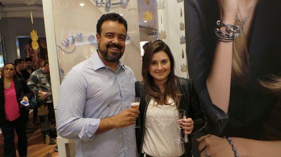 Com Cristiane Massoli da TVZ na inauguração da joalheria Pandora no JundiaíShopping