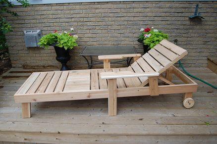 Chaises longues et canap s en bois de palettes relooker Chaise en bois de palette