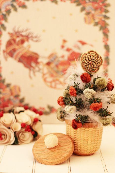 2013年 オニオンフリンジをクリスマスツリーに使っています・・・「Chez Mimosa シェ ミモザ」     ~Tassel&Fringe&Soft furnishingのある暮らし~     フランスやイタリアのタッセル・フリンジ・ファブリック・小家具などのソフトファニッシングで、暮らしを彩りましょう       http://passamaneriavermeer.blog80.fc2.com/