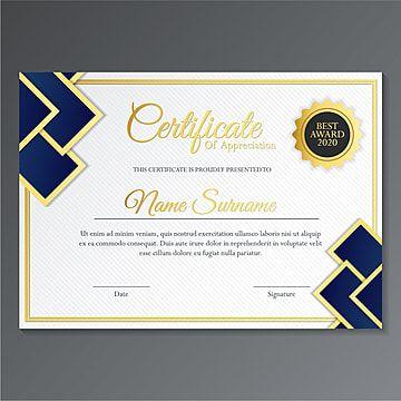 شهادة تقدير جائزة أفضل دبلوم Certificate Design Template Certificate Design Free Resume Template Word