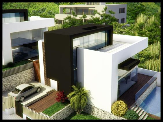 House plans small modern houses and modern houses on for Interior design rooftop terrace