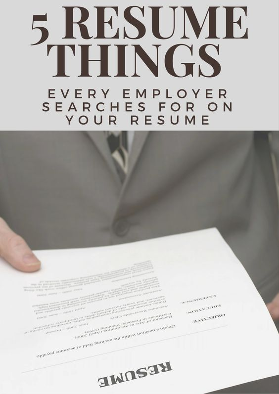 5 Things Every Employer Searches For On Your Resume #Resume - 5 resume tips