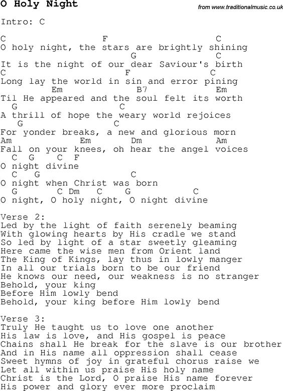 Guitar : guitar chords o holy night Guitar Chords - Guitar Chords O ...