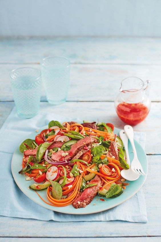 Sweet and Sour Beef Salad Lidl Scotland Tony Singh recipe