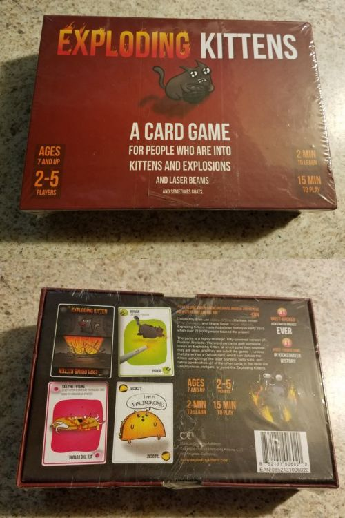 Card Games And Poker 180350 Exploding Kittens Card Game Brand New And Sealed Buy It Now Only 1 Exploding Kittens Card Game Card Games Exploding Kittens