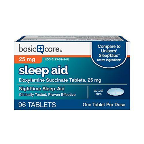 Basic Care Sleep Aid Doxylamine Succinate Tablets 25 Mg 96 Count