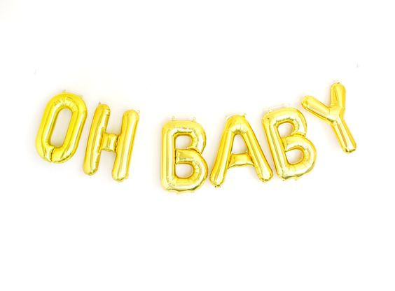 Oh Baby Balloons Letter Balloons Banner Baby Shower Banner Gold Silver Letter Balloons Baby Shower Decor Ideas Girl Boy Neutral Baby Shower by StudioPep on Etsy https://www.etsy.com/listing/230643415/oh-baby-balloons-letter-balloons-banner