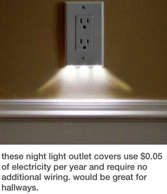 Night light outlet