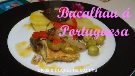 dicas e truques na cozinha: receita de bacalhau a portuguesa no forno  com uma...