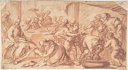 Mary Magdalen Washing Christ's Feet