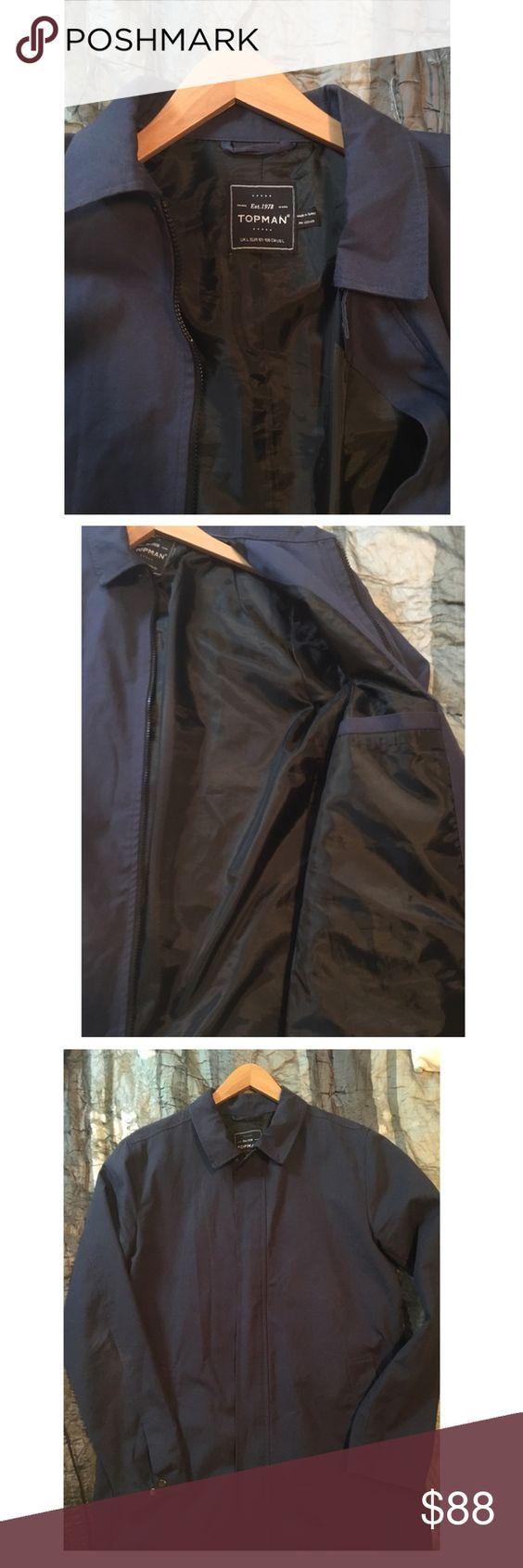 Topman Trenchcoat Cozy navy Topman Trenchcoat great for the fall and winter. Topman Jackets & Coats Trench Coats