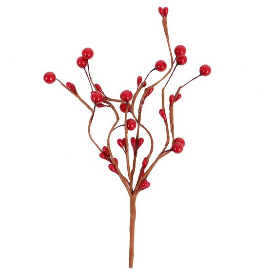 Holiday 8 Red Berry Artificial Arrangement Stems - Wondershop