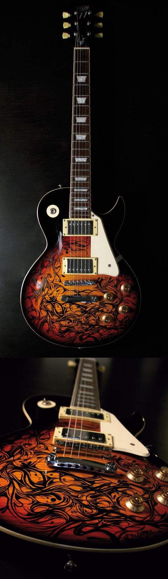 Nouvelle guitare custom by MONOVISUA