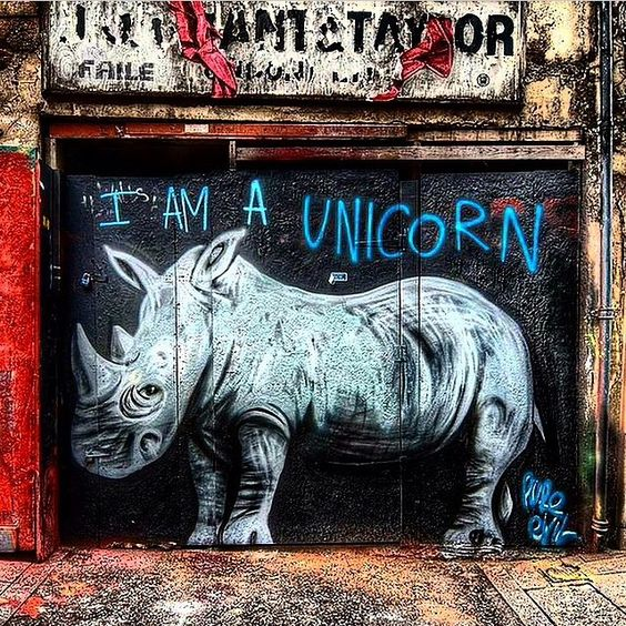 Rhino unicorn grafitti street art | Street Art | Pinterest ...