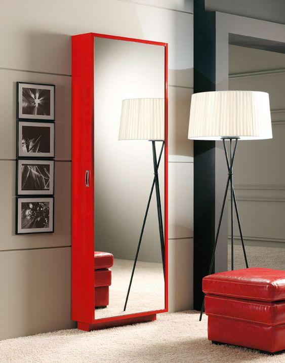 Zapatero de una puerta con espejo chapa de haya con 2 - Percheros para puertas ...