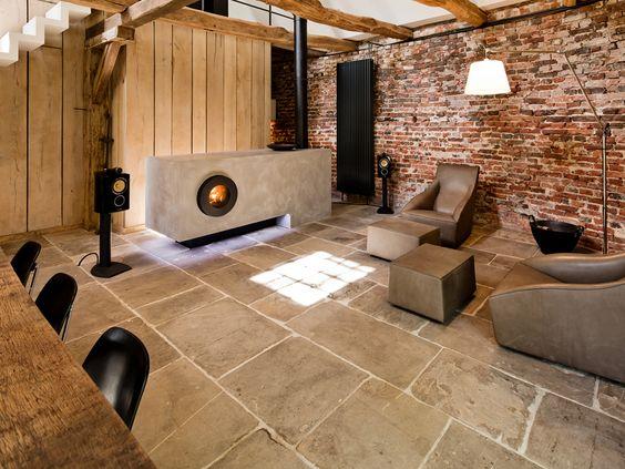 die mischung ist absolut stark nur kontraste rauher ziegel vs glatter beton schwarzer. Black Bedroom Furniture Sets. Home Design Ideas