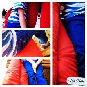 Love my red jeans and my blue boy