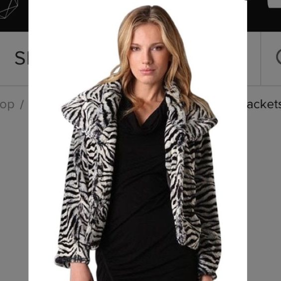 🎊SALE🎊 Alice Olivia faux fur zebra coat