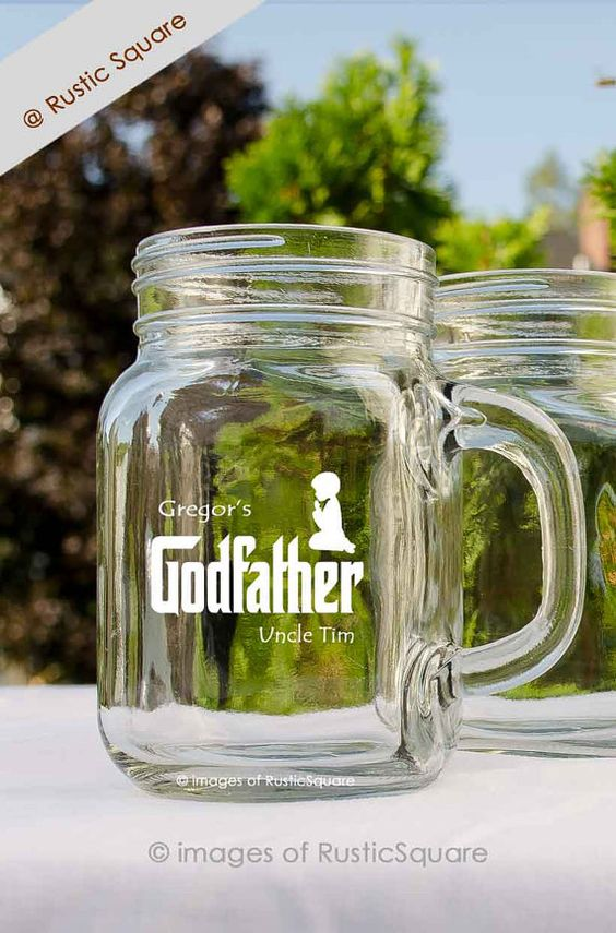 The Godfather Mug Godfather Glass Godfather Gift by RusticSquare