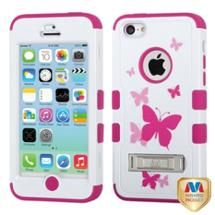 Walmart: INSTEN Butterfly Dancing/Hot Pink TUFF Hybrid Phone Case Cover w/Stand For APPLE iPhone 5C
