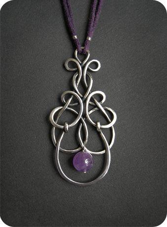 silver wirework pendant