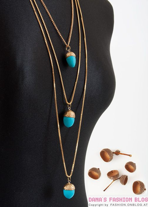 Diy tutorial acorn necklace and fimo on pinterest for Acorn necklace craft