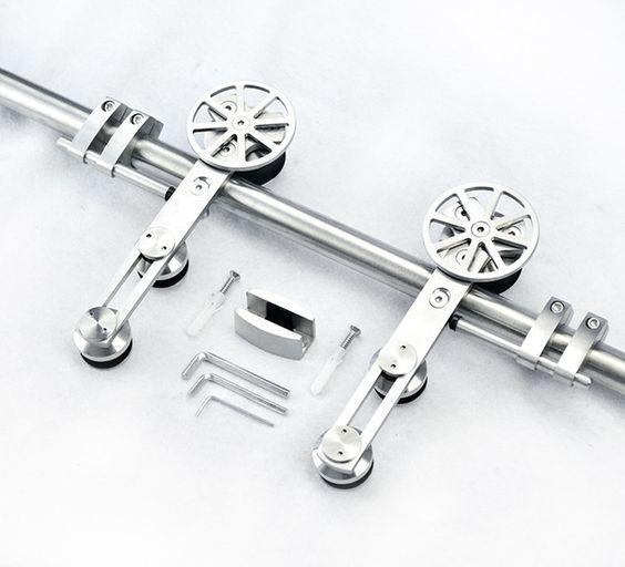 Estilo europeu de alta qualidade de aço inoxidável de celeiro de madeira hardware porta de celeiro faixa de hardware
