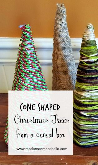 Cone Shaped Christmas Trees Made From Cereal Boxes Cereal Box