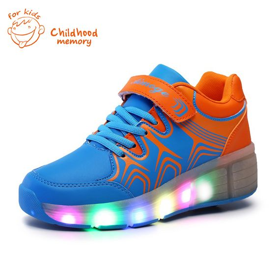 (Buy here: http://appdeal.ru/2fy5 ) Heelys Roller Baby Shoes Baby Boys&Girls Automatic LED Lighted Flashing Roller Skates  Sneakers Single Wheel Chaussure Enfant for just US $36.55