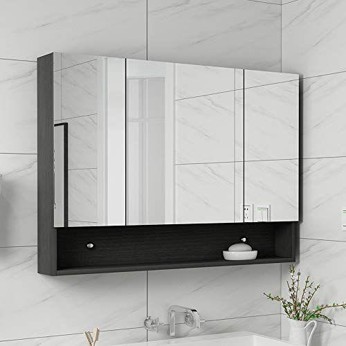 Bathroom Cabinet Mirror Cabinet Illuminated Mirror Wall Bathroom Cabinet With Mirrors Bamb In 2020 Bathroom Mirror Cabinet Mirror Wall Bathroom Wooden Bathroom Storage
