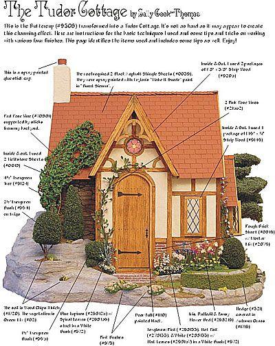 Tudor house model instructions