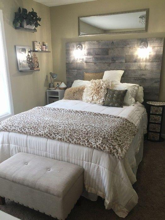 44 Rustic Glam Decorating Ideas Rustic Bedroom Furniture Bedroom Furniture Design Glam Bedroom Decor