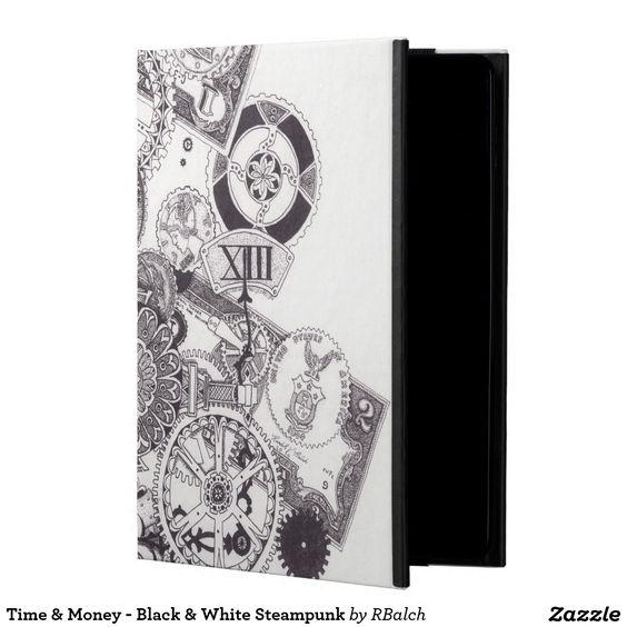 Time & Money - Black & White Steampunk iPad Air Cases